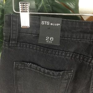 STS Blue Jeans - STS Blue | NWT Black Button Fly Jeans Raw Hem 26